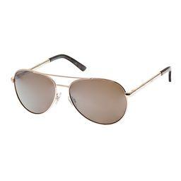 Daisy Fuentes Women's Sunglasses GOLD - Goldtone & Brown Aviator Sunglasses   Zulily