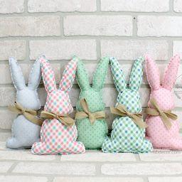 Fabric Easter Bunnies, Stuffed Bunny Rabbit, Spring Farmhouse decor, Easter Tiered Tray decor, bo... | Etsy (US)