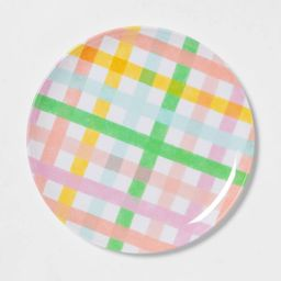 "11"" Melamine Plaid Dinner Plate - Spritz™ | Target"