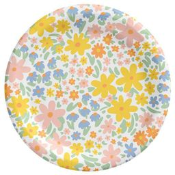 "8.5"" 15ct Floral Disposable Dinner Plates - Spritz™ | Target"