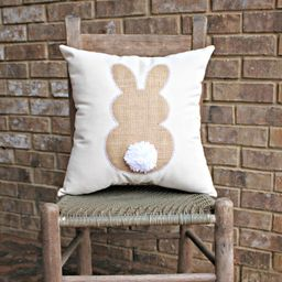 Bunny Pillow - Easter Pillow - Rabbit Pillow - Nursery Decor | Etsy (US)