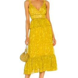 LIKELY Carla Dress in Oil Yellow Multi from Revolve.com | Revolve Clothing (Global)