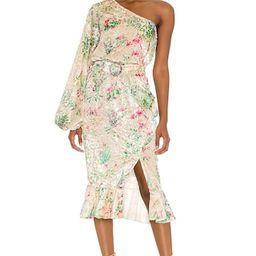 HEMANT AND NANDITA Zaina Midi Dress in Multicolor from Revolve.com | Revolve Clothing (Global)