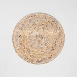 Water Hyacinth White Washed Charger - Threshold™ | Target
