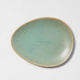 "8"" x 6"" Stoneware Egg Salad Plate Green - Threshold™ | Target"