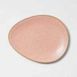 "8"" x 6"" Stoneware Egg Salad Plate Pink - Threshold™ | Target"