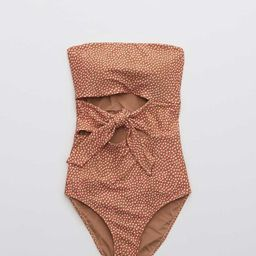 Aerie Wrap Bandeau One Piece Swimsuit | American Eagle Outfitters (US & CA)