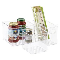 iDESIGN Linus Jumbo Pantry Bin Clear   The Container Store