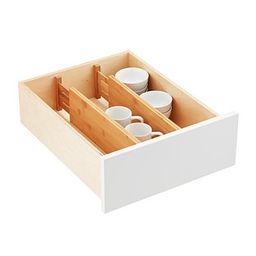 Bamboo Deep Drawer Organizers Pkg/2 | The Container Store