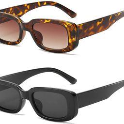 Dollger Retro Rectangle Sunglasses For Women Trendy Vintage 90s Small Sunglasses UV 400 Protectio...   Amazon (US)