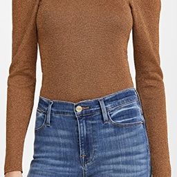 Issa Turtleneck Puff Sleeve Fitted Pullover   Shopbop