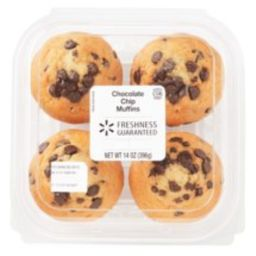 Freshness Guaranteed Blueberry & Chocolate Chip Muffin Variety Pack, 14 oz, 4 Count | Walmart Online Grocery