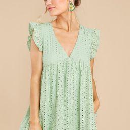 Keep A Secret Pastel Green Romper Dress   Red Dress
