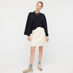 Patch pocket mini skirt in double-serge wool | J.Crew US