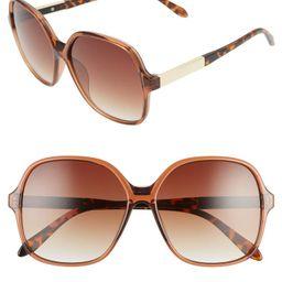 59mm Metal Detail Square Sunglasses   Nordstrom