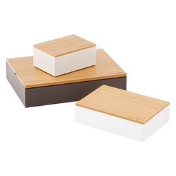 Natural Stackers Wooden Lid | The Container Store