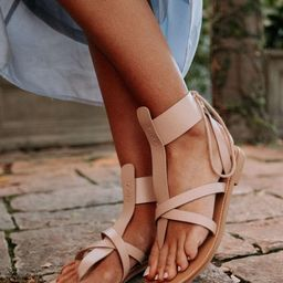 PREORDER - Alia Lace-Up Sandals in Blush   Bohme