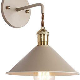 iYoee Wall Sconce Lamps Lighting Fixture with on Off Switch,Khaki Macaron Wall lamp E26 Edison Co... | Amazon (US)