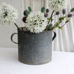Pretty Metal or Zinc Old Garden Planter, Cottage Garden Planter, metal galvanized bowl | Etsy (US)
