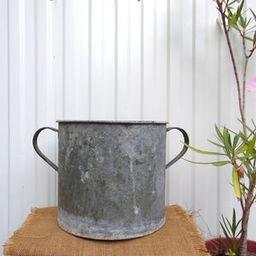 Vintage Galvanized Zinc Planter - Hungarian Two Handled Pot - Garden Planter - Rustic Garden Deco...   Etsy (US)