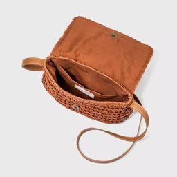 Straw Flap Magnetic Closure Crossbody Bag - Universal Thread™   Target