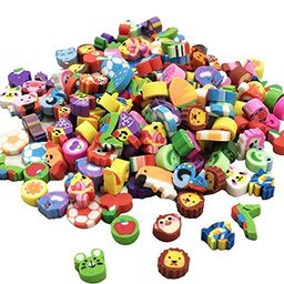Mini Erasers Assortment, Colorful fruits, animals, numbers, sea Animal and more! Great Party Favo... | Amazon (US)