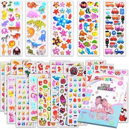 Kids Stickers 1000+, 40 Different Sheets, 3D Puffy Stickers for Kids, Bulk Stickers for Girl Boy ... | Amazon (US)