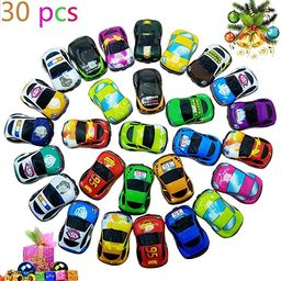 Pull Back Vehicles,30 Pack Friction Powered Pull Back Car Toys,  Vehicles and Racing cars Mini Ca... | Amazon (US)