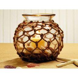Jute Net-Wrapped Glass Bowl - for Florals, Candle, Shelf Decor, Kitchen Flowers | Walmart (US)