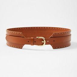 Leather Wide Waist Belt | LOFT
