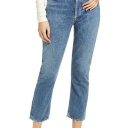 Riley High Waist Crop Straight Leg Jeans   Nordstrom