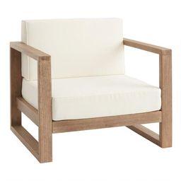 Light Brown Eucalyptus Segovia Outdoor Chair   World Market
