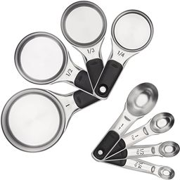OXO Good Grips 8 Piece Stainless Steel Measuring Cups and Spoons Set | Amazon (US)