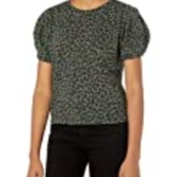 Velvet by Graham & Spencer Women's Dahlia Leopard Puff Sleeve Sweatshirt, Olive, L   Amazon (US)