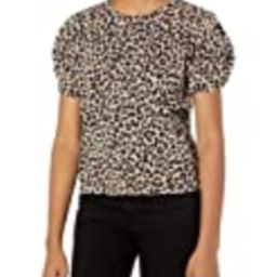 Velvet by Graham & Spencer Women's Dahlia Leopard Puff Sleeve Sweatshirt, Acorn, S   Amazon (US)