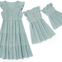 Mommy and Me Matching Maxi Dress Sleeveless Matching Outfits for Mother and Daughter | Amazon (US)