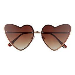BP. 60mm Rimless Heart Sunglasses | Nordstrom | Nordstrom