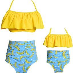 Baby Girls Bikini Swimsuit Set Family Matching Mother Girl Swimwear Baithing Suit | Amazon (US)