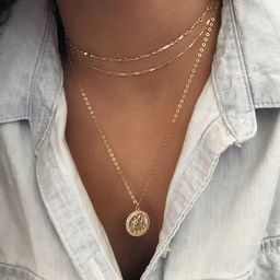 14K GF Gold Coin necklace, Gold Medallion Necklace, Miraculous gold necklace, St Christopher, Gif... | Etsy (AU)