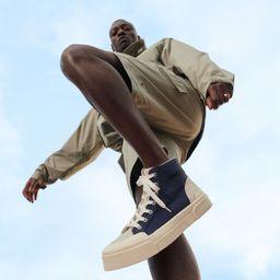 Canvas hi-top sneakers   H&M (UK, IE, MY, IN, SG, PH, TW, HK)