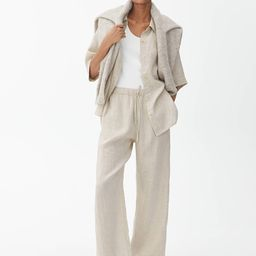 Elastic-Waist Linen Trousers   ARKET