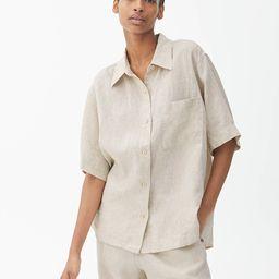 Short-Sleeved Linen Shirt   ARKET