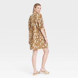 Women's Puff Elbow Sleeve Babydoll Dress - Universal Thread™ | Target