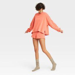 Women's French Terry Crewneck Lounge Sweatshirt - Colsie™ | Target