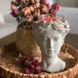 Greek Goddess Female Statue Head Concrete Flower Planter For Home and Garden Decoration Roman Ven...   Etsy (US)