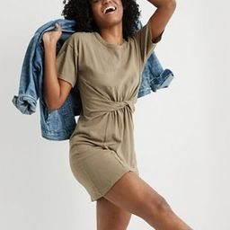 Aerie Knot Front T-Shirt Dress | American Eagle Outfitters (US & CA)