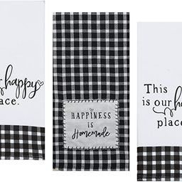3 Farmhouse Country Themed Decorative Cotton Kitchen Towels Set with Black and White Print   1 Te...   Amazon (US)