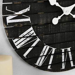 FirsTime & Co. Nightfall Shiplap Wall Clock, American Crafted, Charcoal Shiplap, 18 x 1.75 x 18,   Amazon (US)