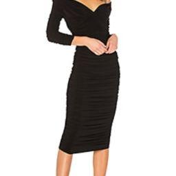 Norma Kamali Tara Dress in Black from Revolve.com   Revolve Clothing (Global)
