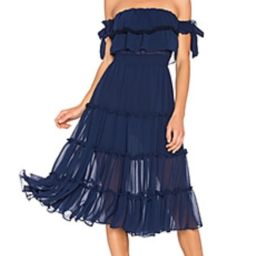 MISA Los Angeles Micaela Dress in Navy from Revolve.com | Revolve Clothing (Global)